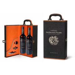 (店铺)原瓶进口法国力士拉德城堡干红葡萄酒2支礼盒装