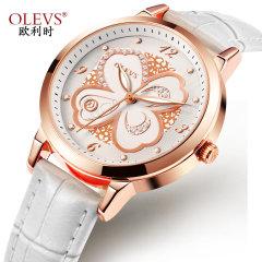 新款欧利时正品新款手表女士时尚学生潮流韩版简约ins风5188 白皮白面 5188