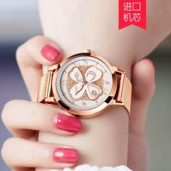 新款欧利时正品新款手表女士时尚学生潮流韩版简约ins风5188 钢带白色 5188