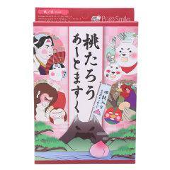 日本pure smile江户桃太郎脸谱面膜4片装/盒