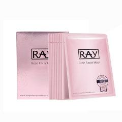 泰国RAY妆蕾玫瑰面膜补水保湿提亮肤色紧致嫩肤水润10片/盒