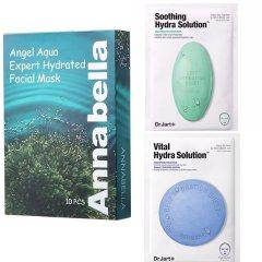 蒂佳婷蓝色药丸面膜5片/盒+绿色药丸面膜5片/盒+安娜贝拉海藻面膜10片/盒