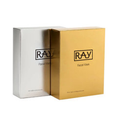 泰国RAY蚕丝超薄面膜 补水滋润+修复祛痘 经典金+银组合套装(佐木版)10片/盒