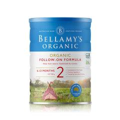 【澳洲直邮】BELLAMY'S 贝拉米 有机奶粉 2段(6-12个月) 900克/罐【3罐装】