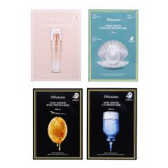 【香港直邮】韩国 JMsolution面膜4盒套装 海洋珍珠+欧若拉+蜂蜜+JM水光针剂 各10片/