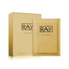 泰国RAY蚕丝超薄面膜 深层修复去痘印抚平细纹 金色 10片盒(左木版)