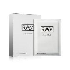 泰国RAY蚕丝超薄面膜贴 清洁补水 晒后修复 收缩毛孔(银色包装)10片/盒 左木版