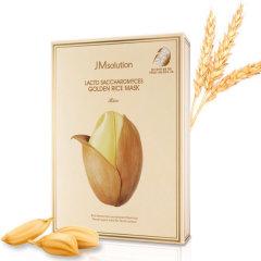 JM solution酵母乳黄金米面膜大米面膜补水保湿美白提亮抗衰老面膜10片装