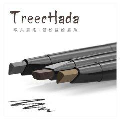 泰国treechada眉笔1+2双头旋转防汗不脱色送替换装笔芯带眉刷防水03#灰黑色