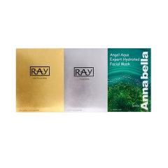 RAY补水面膜金+银+ANNABELLA 安娜贝拉海藻面膜10片/盒