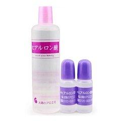 日本太阳社 玻尿酸精华液保湿补水套80ml+10ml*2