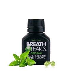 BREATH PEARLS 草本口气清新胶囊 50粒  保质期:2021-01-26