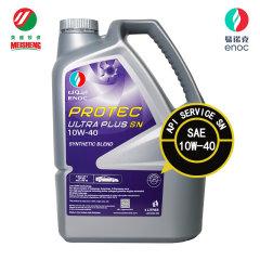 全合成机油汽油易诺克ULTRA PLUS SN 10W-40 4L迪拜进口API认证