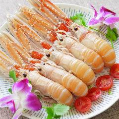 崇鲜 生冻挪威深海鳌虾1000g 海鲜刺身 21-30只/盒鲜活鳌虾