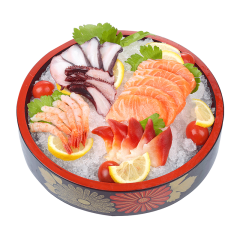 崇鲜 进口冰鲜三文鱼刺身拼盘500g/盒水产海鲜拼盘