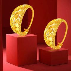 GOLDBEST金贝珠宝 黄金足金满天星耳环耳钉耳包女款 GHJE403704