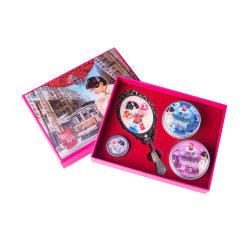 如玥老上海珍珠护肤礼盒套装润泽素颜珍珠膏复古铜镜香膏妈妈护肤品