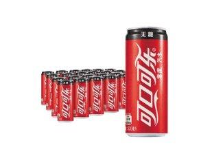 可口可乐 Coca-Cola 零度汽水330ml*24罐/箱 深圳市6箱起包邮